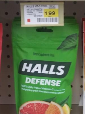 Cash Saver: Halls Defense Cough Drops 30 drops