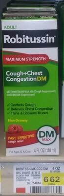 Cash Saver: Robitussin (Adult) Cough+Chest Congestion DM Max 4fl oz
