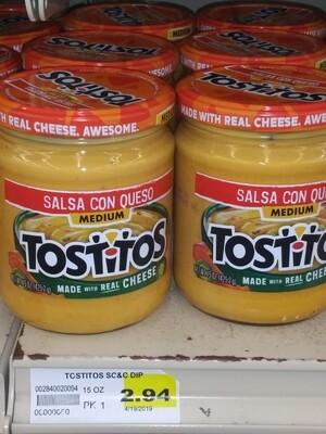 Tostitos Salsa Con Queso Cheese 15oz