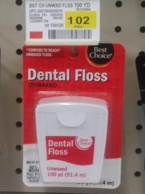 Cash Saver: Dental Floss Unwaxed 100yd