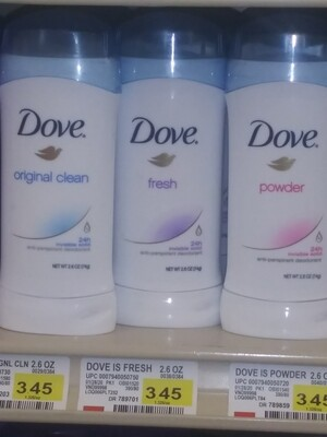 Cash Saver: Dove Deodorant 2.6oz