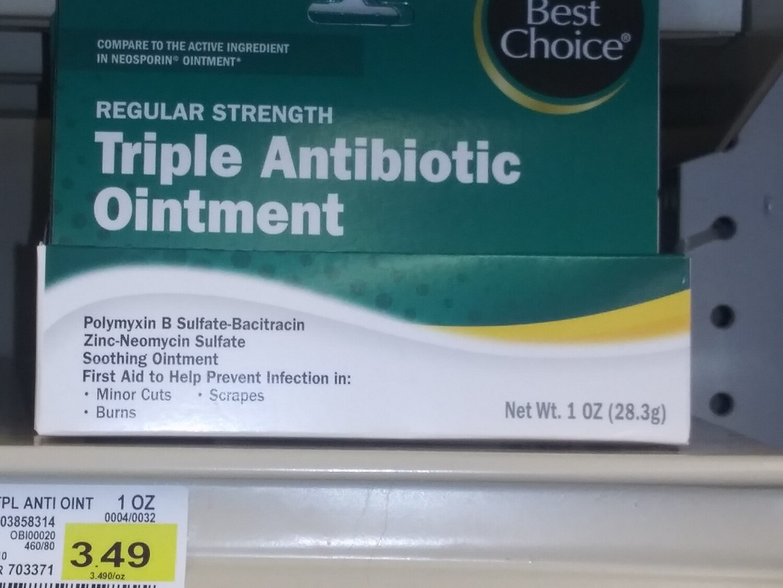 Cash Saver: Best Choice Triple Antibiotic Ointment 1oz