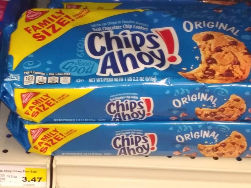 Cash Saver: Family Size Chips Ahoy! 19.5oz