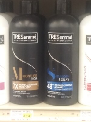 Cash Saver: TRESemmé Shampoo (Moisture Rich, Smooth Silky)