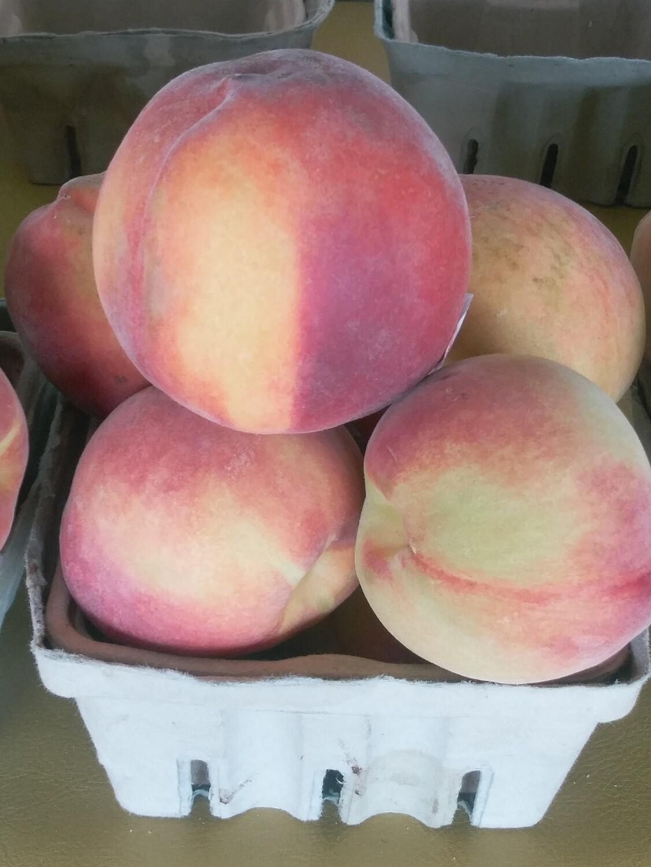 Farmers Market: Basket of Peaches
