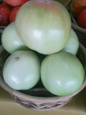 Farmers Market: Basket of Green Tomatoes