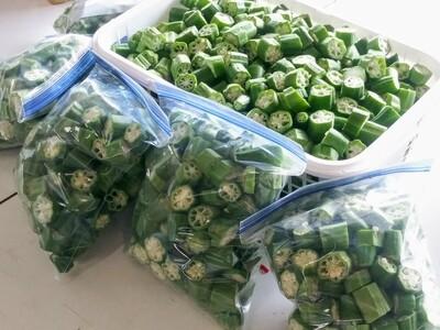 Farmers Market: Cut Okra