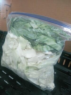 Farmers Market: Cut Cabbage