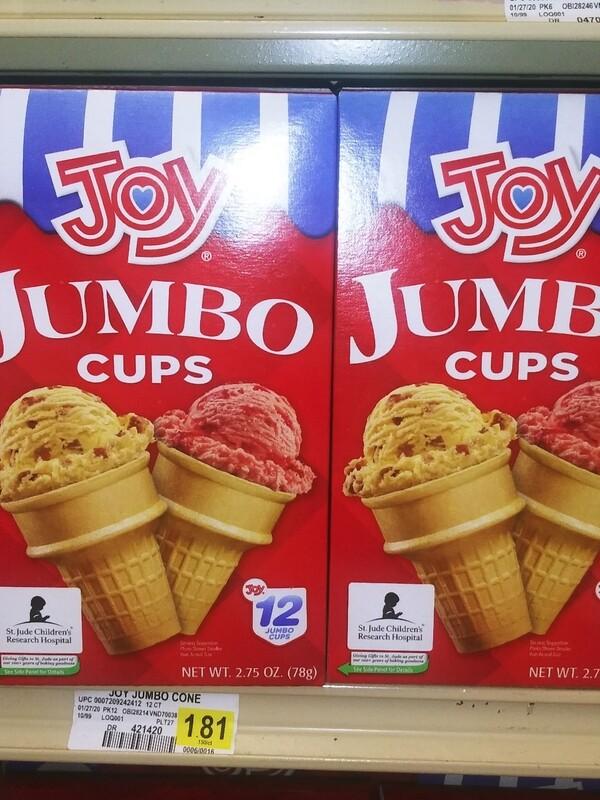 Cash Saver: Joy Jumbo Ice Cream Cups