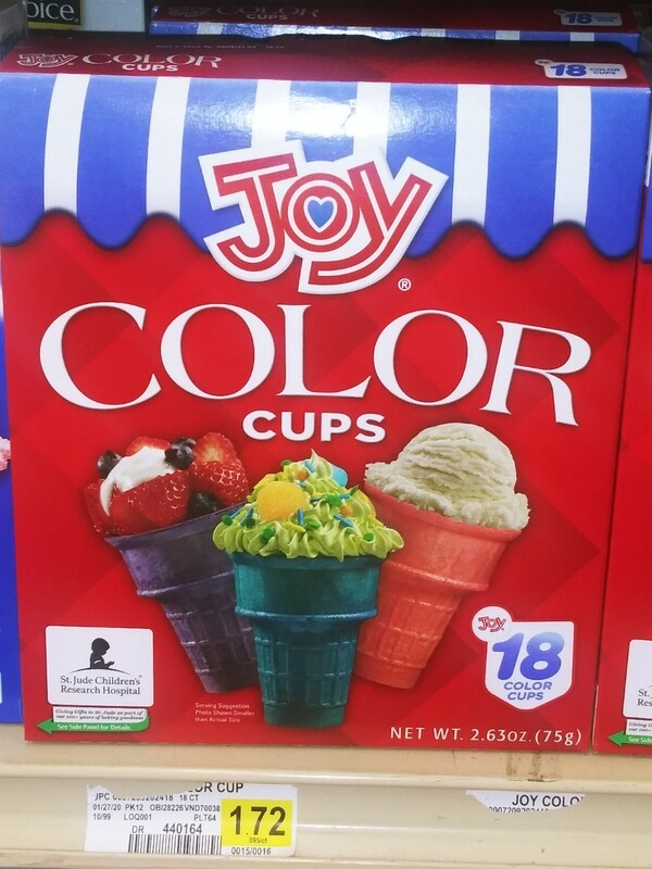 Cash Saver: Joy Color Ice Cream Cups