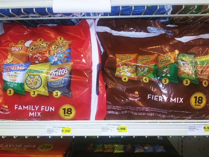 Cash Saver: Frito Lay Family Fun Mix or Fiery Mix 18 bags