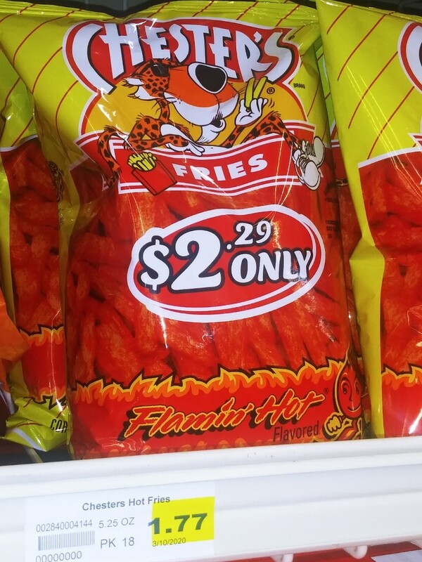 Cash Saver: Chester's Flamin Hot Fries