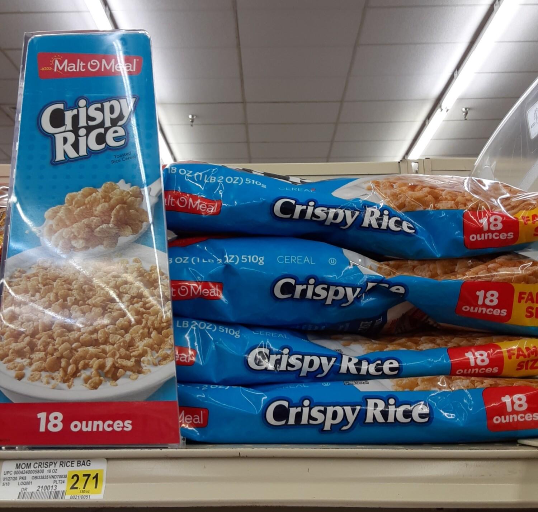 Cash Saver: Malt O Meal Crispy Rice Cereal 18oz