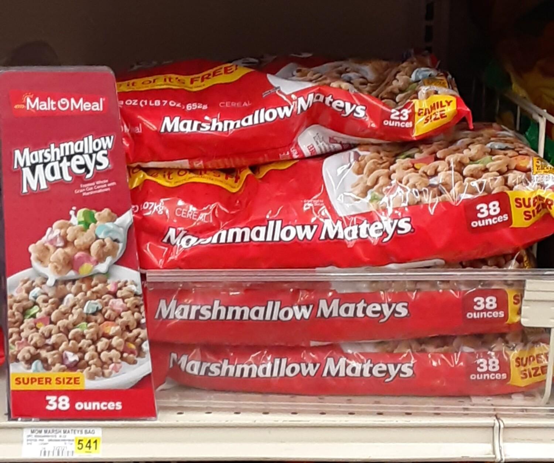 Cash Saver: Malt O Meal Marshmallow Mateys Cereal 38oz
