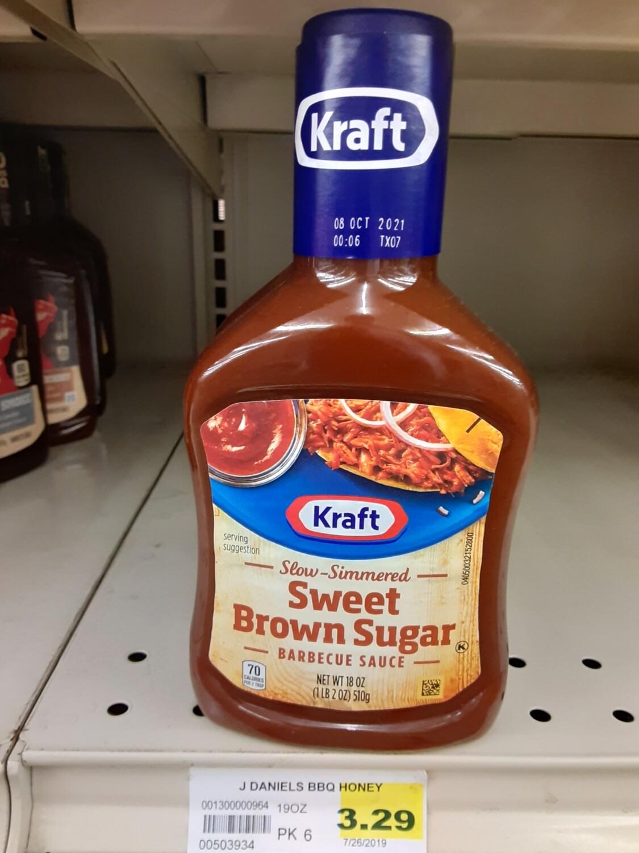 Cash Saver: Kraft Sweet Brown Sugar Barbecue Sauce 18 oz