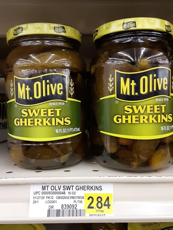 Cash Saver: Mt.Olive Sweet Gherkins 16oz