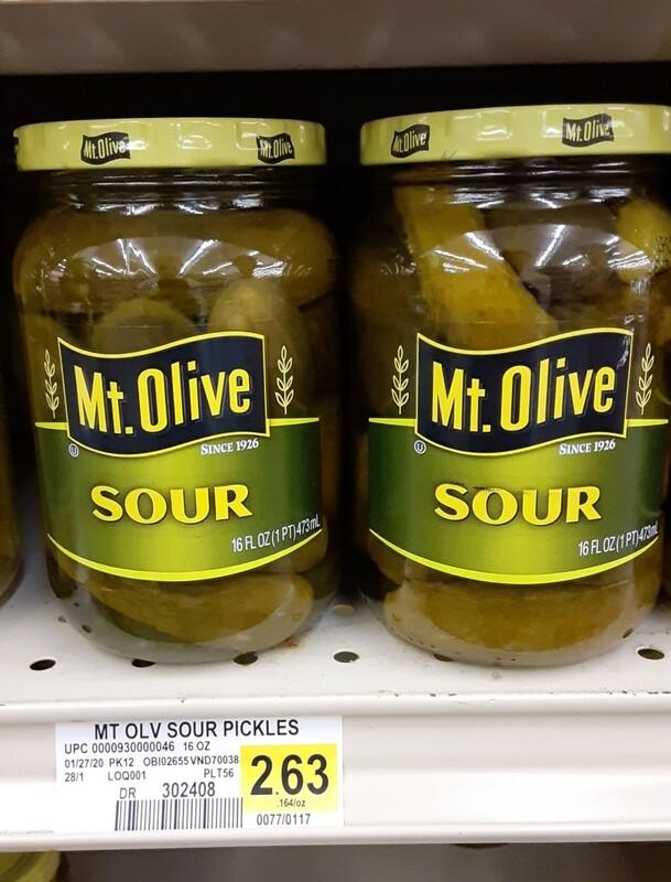 Cash Saver: Mt.Olive Sour 16oz