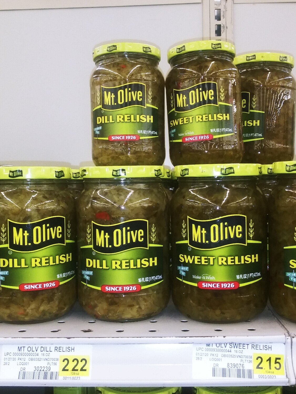 Cash Saver: Mt.Olive Relish (Dill, Sweet)10 fl oz