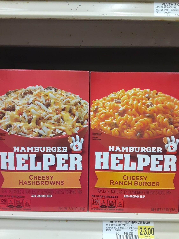 Cash Saver: Hamburger Helper 6oz