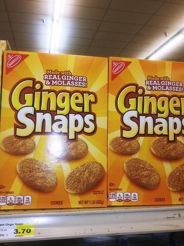 Cash Saver: Nabisco Ginger Snaps 1lb