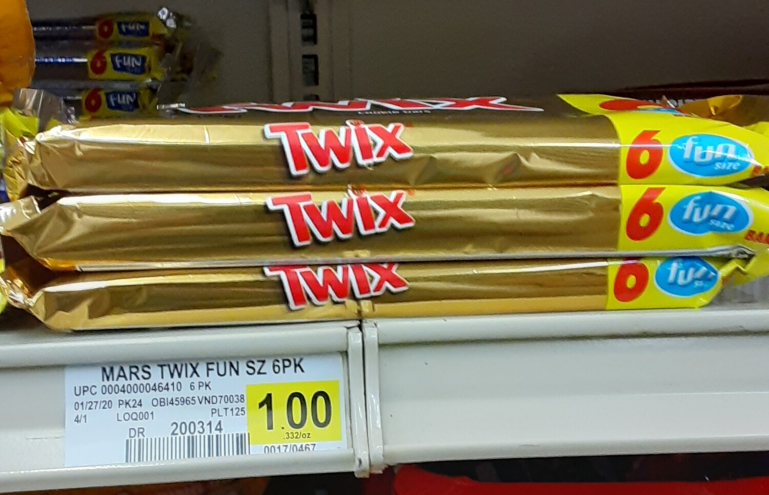 Cash Saver: Twix Fun Size Candy 3.28oz