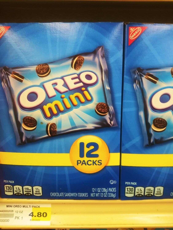 Cash Saver: Oreo Mini 12 packs