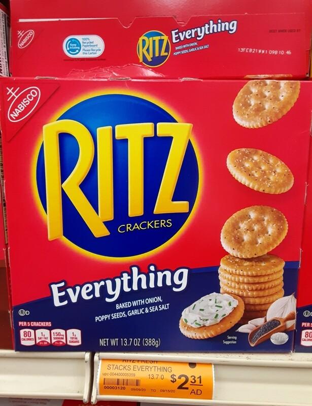 Cash Saver: Ritz Crackers Everything 13.7oz