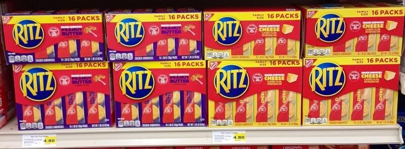 Cash Saver: Ritz Cracker Sandwiches Family Size 22.8oz