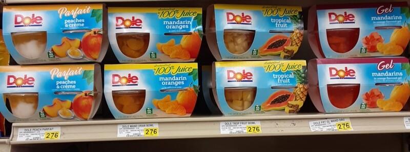 Cash Saver: Dole Fruit Cups pk