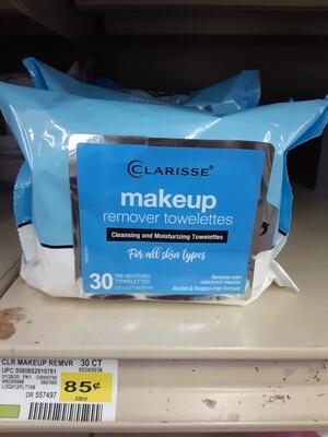 Cash Saver: Clarisse Makeup Remover Towelettes 30ct