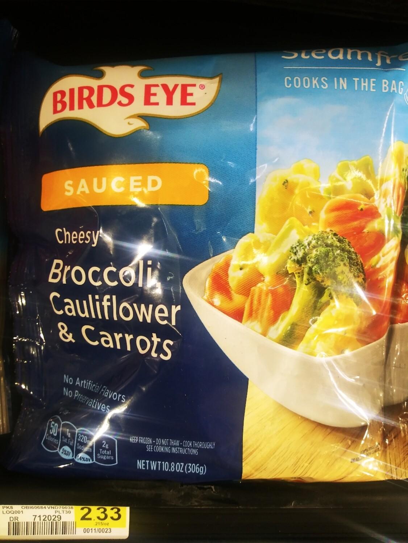 Cash Saver: Birds Eye Steamfresh Cheesy Broccoli, Cauliflower And Carrots Vegetables 10.8oz
