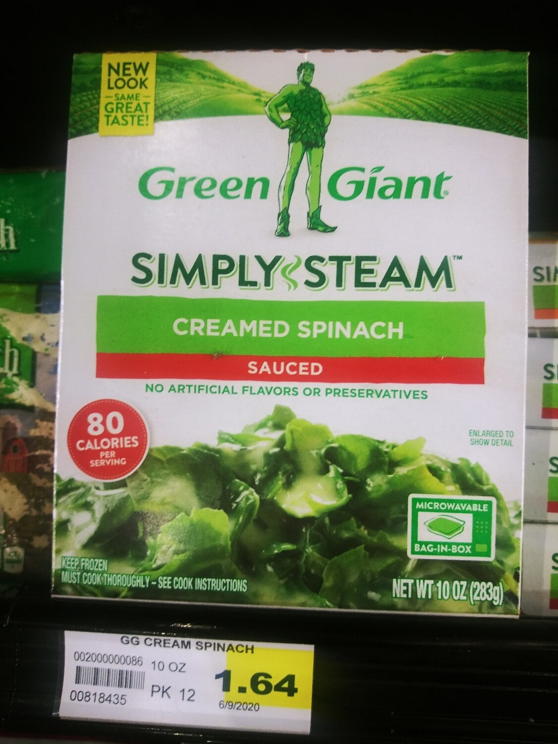 Cash Saver: Green Giant Simply Steam Creamed Spinach 10oz