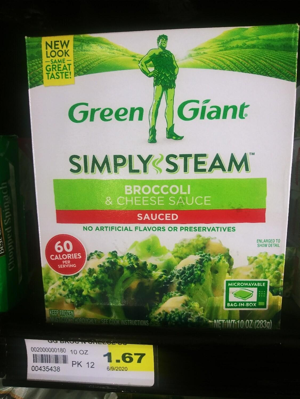 Cash Saver: Green Giant Simply Steam Broccoli & Cheese Sauce 10oz