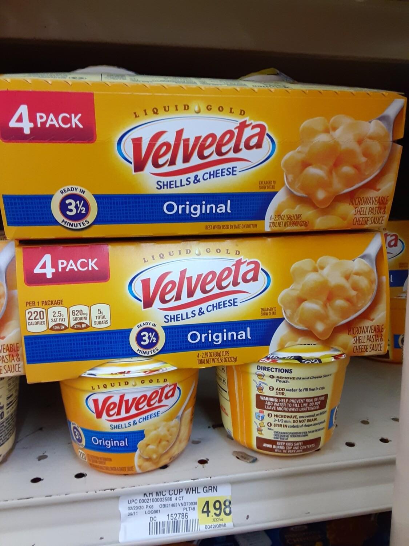 Cash Saver: Velveeta Shells & Cheese Cups 4ct