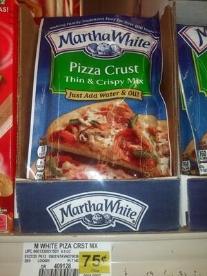 Cash Saver: Martha White Pizza Crust 6.5 oz