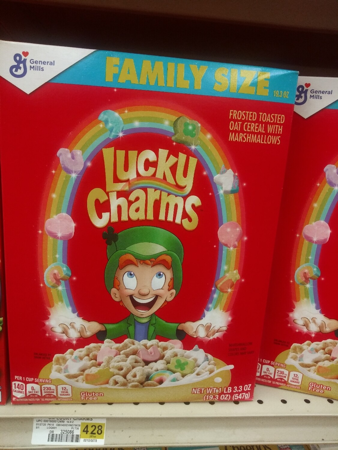 Cash Saver: General Mills Lucky Charms Family Size