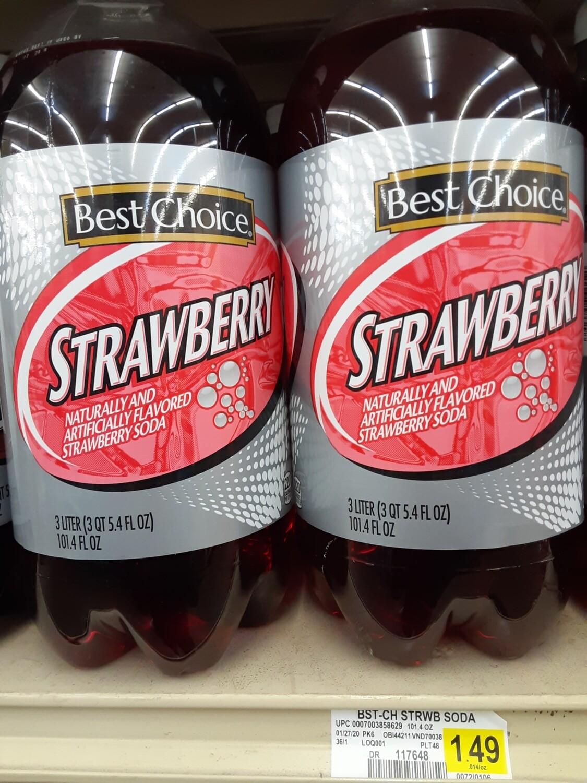 Cash Saver: Best Choice Strawberry 3 Liter