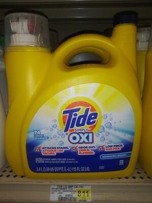 Cash Saver: Tide Oxi 74 Loads 3.4L