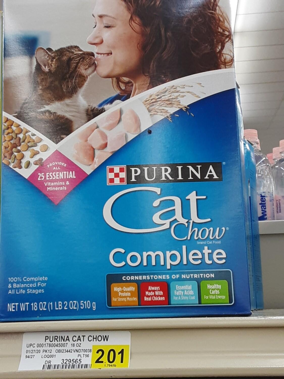 Cash Saver: Purina Cat Chow Complete 18oz