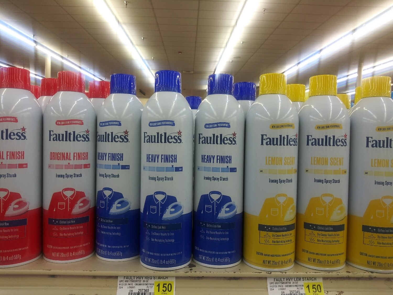 Cash Saver: Faultless Spray Starch 20oz Cans
