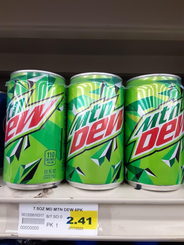 Cash Saver: Mountain Dew Cans