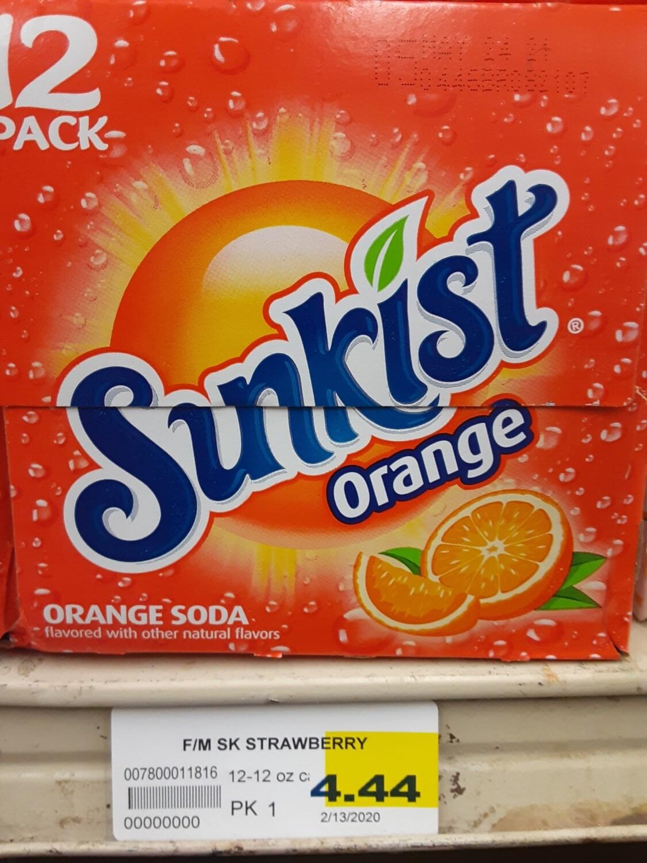 Cash Saver: Sunkist Orange 12pk
