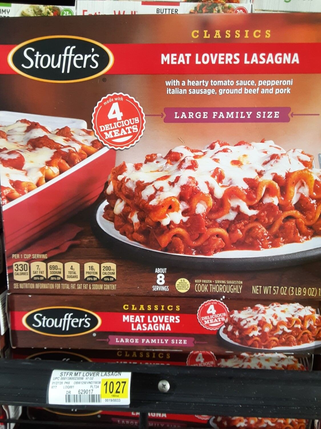 Cash Saver: Stouffer's Meat Lovers Lasagna Large Family Size