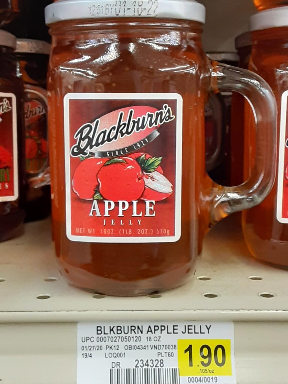 Cash Saver: Blackburn's Apple Jelly 18oz