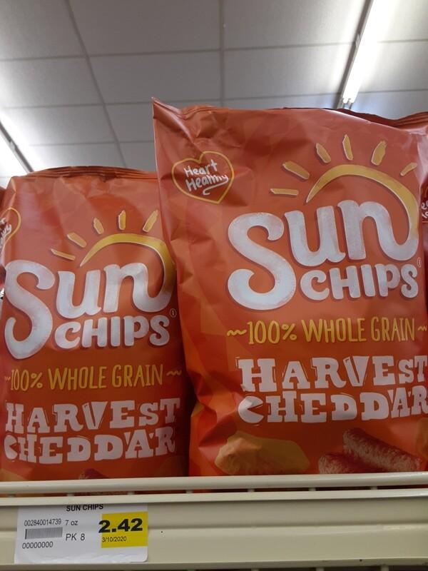 Cash Saver: Sun Chips Harvest Cheddar Chips 7oz