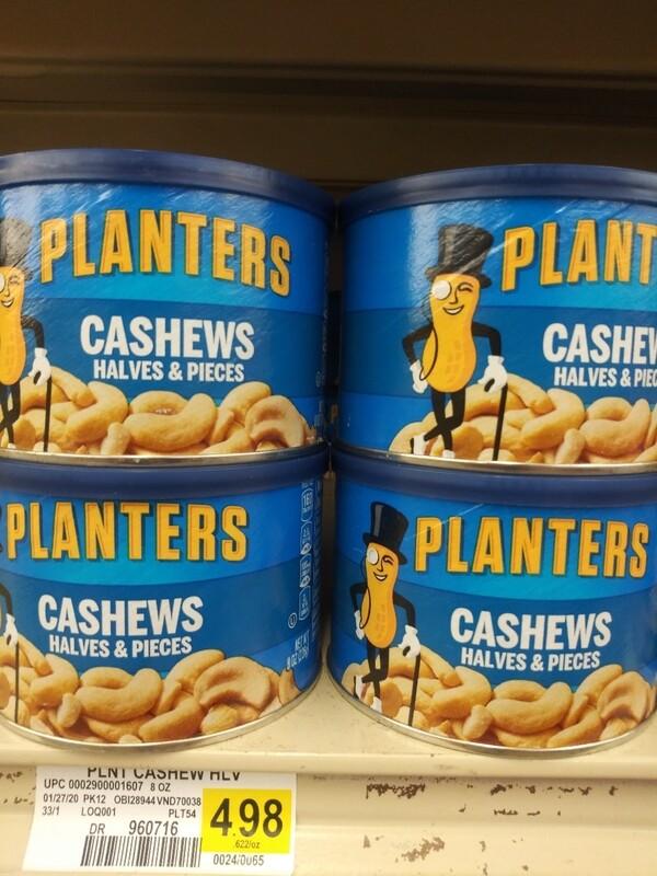 Cash Saver: Planters Cashews