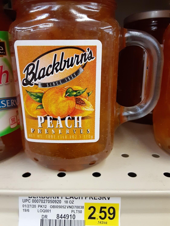 Cash Saver: Blackburn's Peach Preserve Jelly 18oz