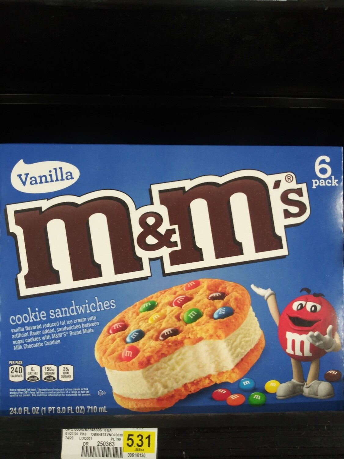 Cash Saver: M&M's Ice Cream Sandwiches 6pack