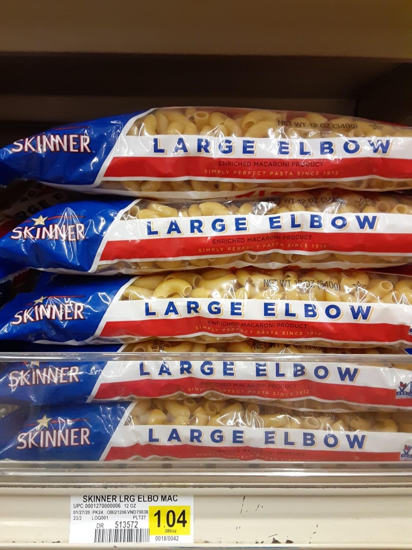 Cash Saver: Skinner Large Elbows Pasta 12oz