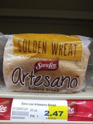 Cash Saver: Sara Lee Artesano Bakery Bread